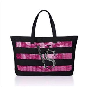Victoria Secret Pink Sequin Tote
